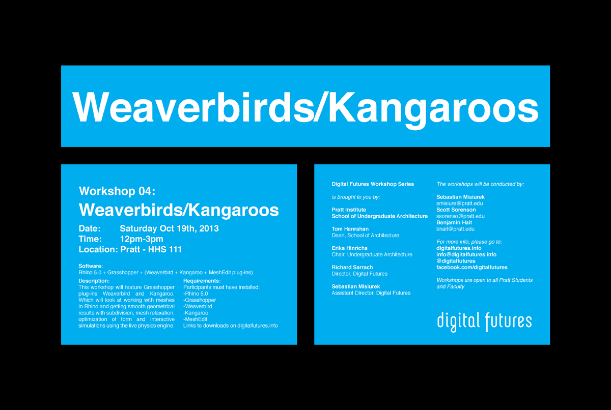 Workshop 04: Weaverbirds / Kangaroos | digital futures